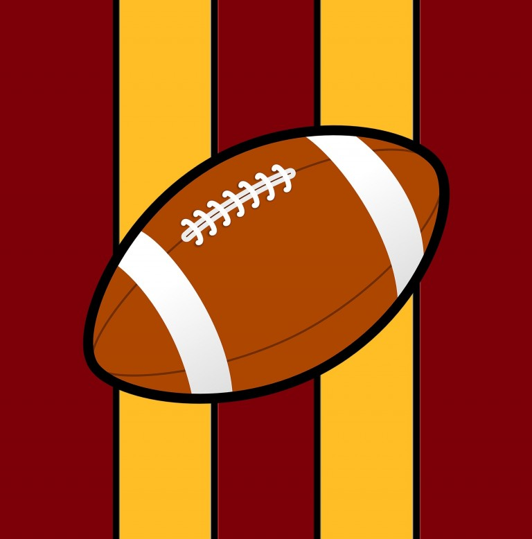 Football in USC colors