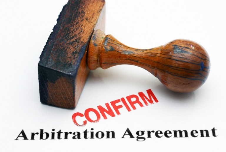 Arbitration agreement - confirm stamp